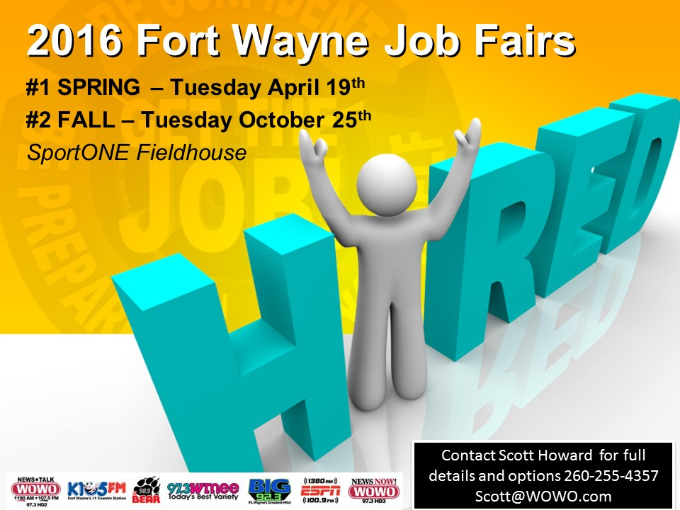 Two job fairs planned for 2016 in April & October