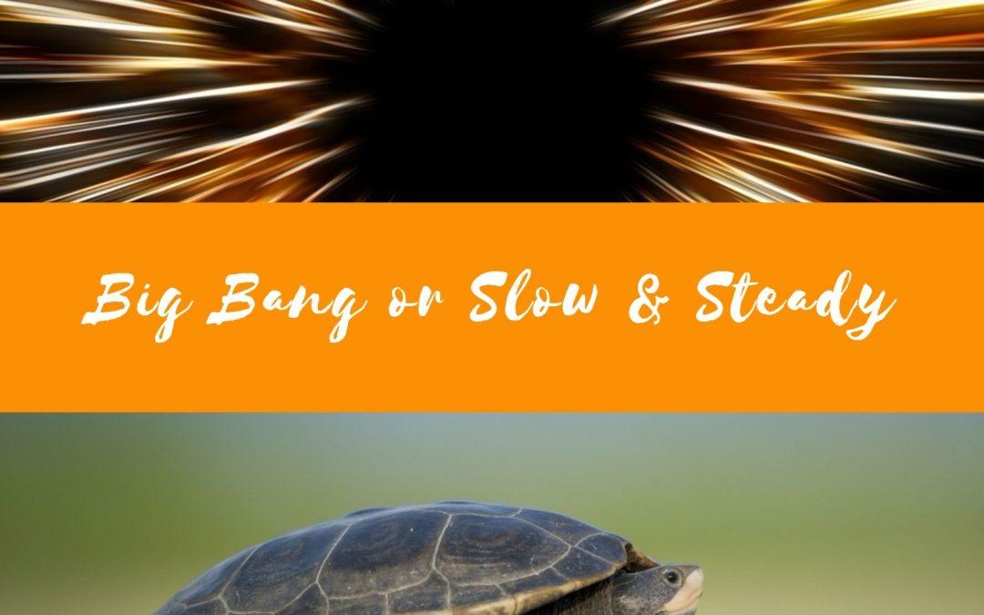 Big Bang or Slow & Steady?